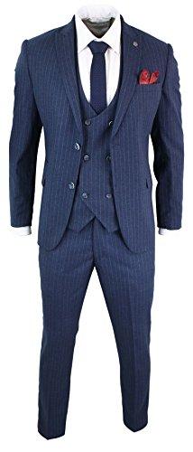 marc darcy Herrenanzug Blau 3 Teilig 1920's Design Gatsby Peaky Blinders Preis