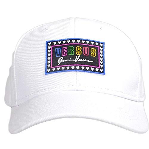 Versace Versus Mütze mit mehrfarbigem Logo, Weiß - weiß - Einheitsgröße