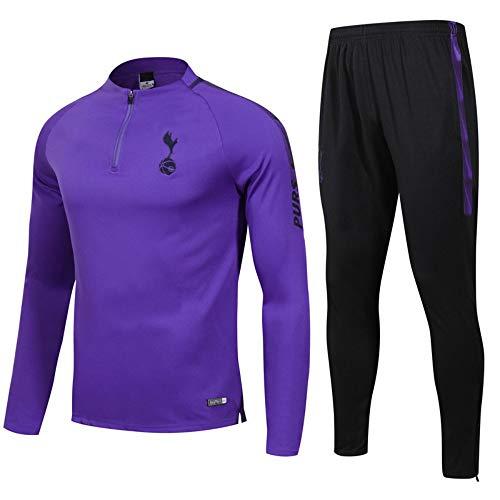 XunZhiYuan Frankreich Heim und Auswärts Verein Langarm Fußball Uniform Anzug Jacke & Hose Trainingsanzug Erwachsene Trikot, XL (Frankreich Langarm Fußball-trikot)