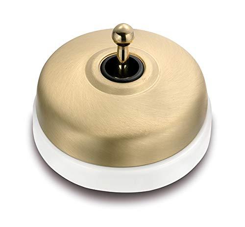 Fontini 60304592 Cruzamiento Porcelana Blanca, Carcasa Dorado Satinado Manecilla Dorada