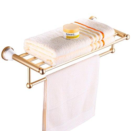 QYJpB Handtuchhalter Glastür Handtuchhalter Und Regal Combo Gold Space Aluminium Ablage -Stuhlhocker -