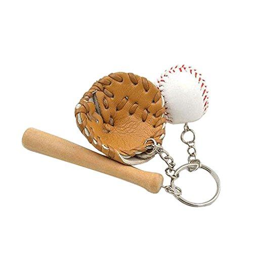 P Prettyia Sportliche Mini Baseball Schlüsselanhänger Keychain Handtaschenanhänger Deko