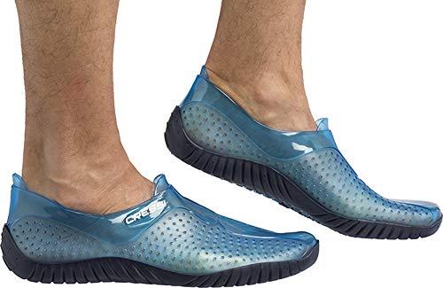 Cressi Water Shoes Escarpines para Todo Tipo de Deportes Acuáticos Juventud Unisex, Adultos Claro/Azul...