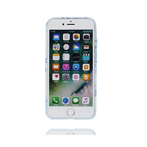 [ Iceberg Nero ] iPhone 6/6s Marble Custodia, Cover [Stone Texture Collection] Stampa in marmo TPU Soft Custodia per iPhone 6 / 6S (4,7 pollici) Case anti-shock anti-graffi Color 7