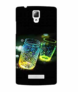 Case Cover Abstract Printed Black Soft Back Cover for Lenovo A2010