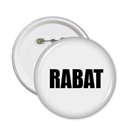 DIYthinker Rabat Marokko Stadt Name Runde Pins Abzeichen-Knopf Kleidung Dekoration 5pcs Geschenk Mehrfarbig L