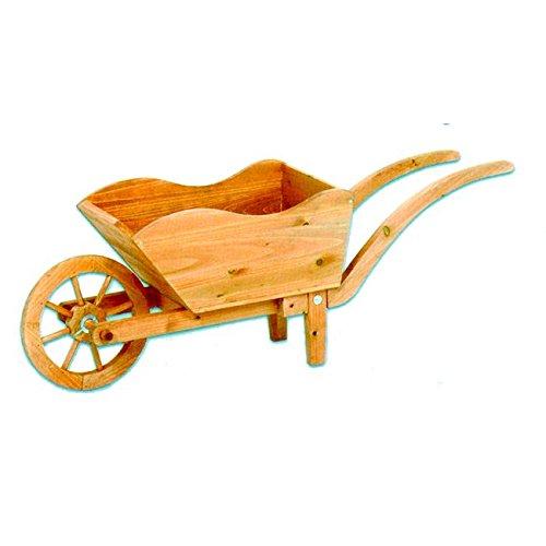 Ev fioriera carriola in legno portavaso 100x30x40 cm, marrone