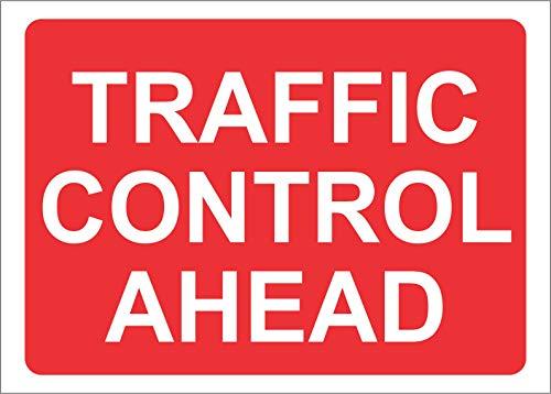 INDIGOS UG - Aufkleber - Sicherheit - Warnung - Warning Traffic Control Ahead Road Safety Sign 60x40cm - Sticker für Büro, Firma, Schule, Hotel, Werkschutz Digital Security Controls
