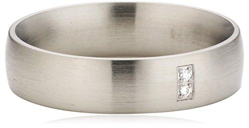 Xen Damen-Ring Edelstahl Diamant weiß Gr.54 (17.2) 011329G54