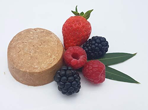 Shampoo Bar Redberry Smoothie – bei empfindlichem Haar und Kopfhaut, allergenfrei, vegan, festes Shampoo von kleine Auszeit Manufaktur