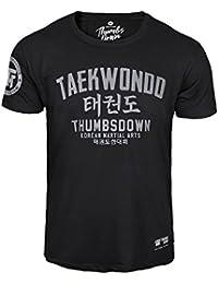 Thumbsdown Thumbs Down Taekwondo Camiseta Coreano Marcial Artes MMA.  Gimnasio Entrenamiento. Informal 870d677689c4