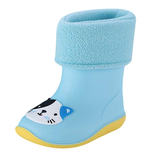 HOTSELL〔☀ㄥ☀〕Wellington Boots Kids, Kids Toddler Rubber Rain Shoes Soft Durable PVC Rain Boot Waterproof Non-Slip Rain Boots Wellies Wellington for Children Boys & Girls