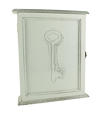 Home Furnishings Handcrafted White Wooden Painted Wall Key Cabinet 27cm WF1208