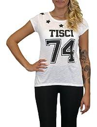 S&LU angesagtes Damen Vokuhila-Shirt mit einem tollen Print Größe 34- 38