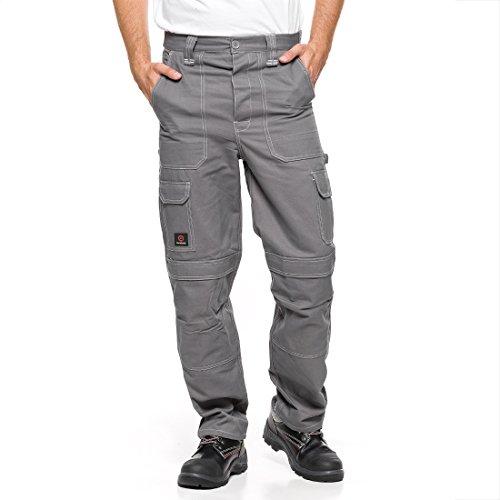 Arbeitshose 100% gekämmte Baumwolle Grau 176/116-120 Sicherheitshose Schutzhose Arbeitsbekleidung