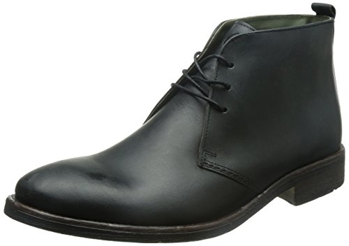 Base London Greenwich, Boots homme Noir (Waxy Black)