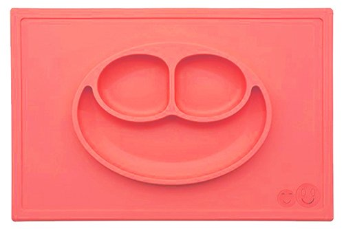 immediate-dispatch-arrives-before-christmassmiths-happy-mat-one-piece-silicone-placemat-plate-coral-