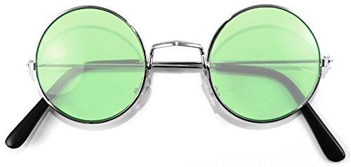 brille - Grün (Hippie Kostüm Sonnenbrille)
