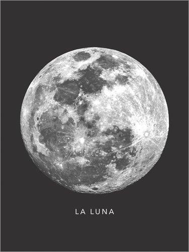 a Luna - der Mond von Finlay and Noa - hochwertiger Kunstdruck, neues Kunstposter ()
