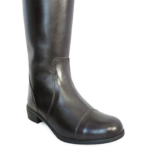 Adulti Sintetico equi-leather equitazione lungo Show, misura