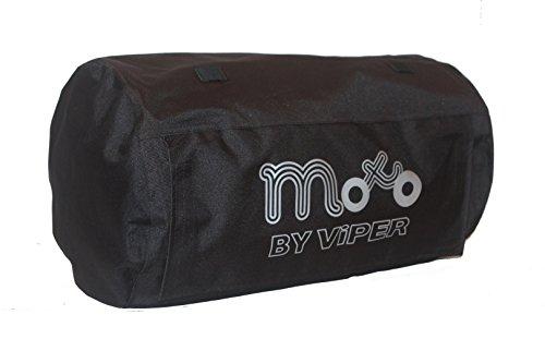 Moto Luggage Commuter Textil Wasserdicht Street Cruising Touring Gepäck Roll Motorrad Tasche (50 Liter) - Schwarz - One -