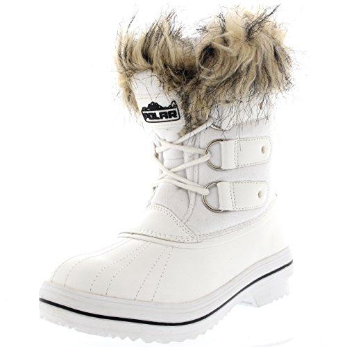 Femmes Fourrure Brassard Caoutchouc Court Hiver Pluie Chaussure Bottes Blanc Suède