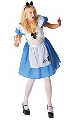 """, klassisches Erwachsenen-Kostüm für Damen in """"Alice im Wunderland""""-Design in kleiner Größe (Alice Im Wunderland Halloween Kostüme Für Damen)"""