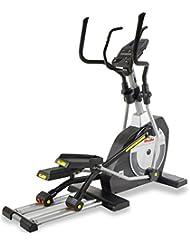BH Fitness FDC20 STUDIO G868 Crosstrainer, Ellipsentrainer, 12 Programme, 24 Intensitätsstufen, Anschluss von Smartphones/Tablets, XXL Pedale