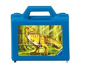 Ravensburger 07494  - Dinosaurios de Colores, 12 Piezas Wüfelpuzzle