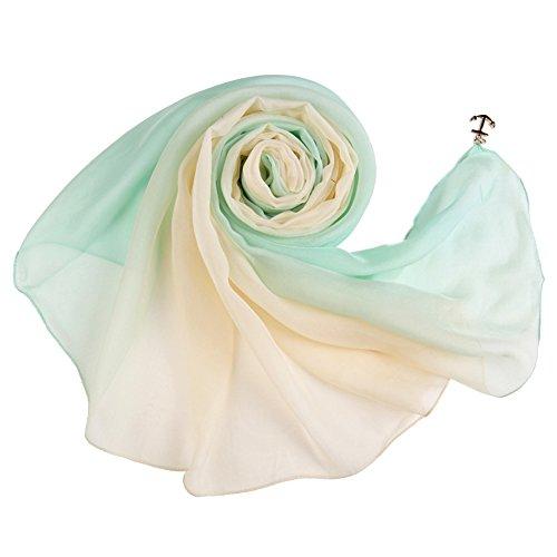 Seide Tartan-rock (Honeystore Damen 2017 Frühling Neuheiten 100% Seide extra Lang Blumen Seidenschal mit Anhänger, 180 CM x 70 CM DZ12)