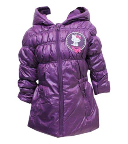 Mädchen Hallo Kitty Puffa Hooded Jacket Plum 3 Jahre (Mädchen Kitty Für Hallo)