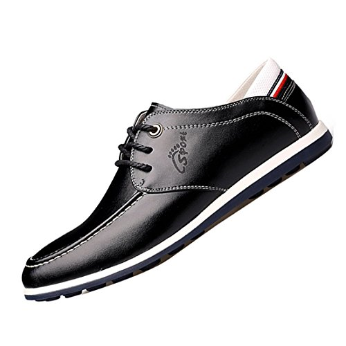 Gaorui Herren Casual fahren Schuhe atmungsaktives Schuhe Business Schnürhalbschuhe Gelb