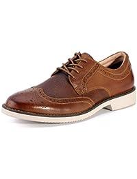 Dilize - Zapatos de cordones de Piel para hombre marrón marrón mXVJT2Vo