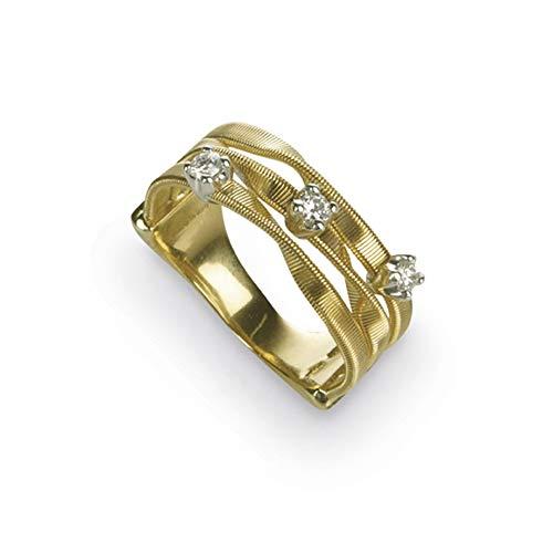 Bicego Frame Ring AG158-B donna in oro 18 carati e diamanti