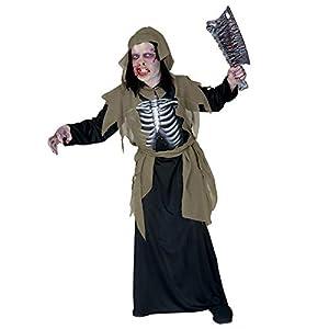 WIDMANN Desconocido Déguisement de Squelette Zombie - Enfant (8/10 ans - 140 cm)