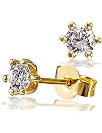 Oro Commercial – Jewels – de mujer pendientes 6 stotzen 750 oro 2 brillantes Lupa Blanco Puro 0,50 ct.