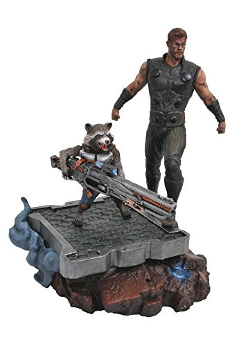 Diamond- Comics Thor y Rocket Raccoon Estatua Resina Marvel Premier  Collection Avengers 3, Color (DIAMV178002)