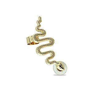 BlackAmazement Cartilage Ohrklemme Ohrstecker Schlange Snake für das rechte Ohr Damen