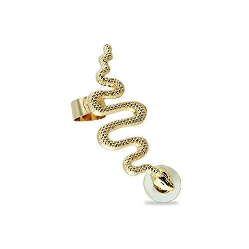 BlackAmazement Cartilage Ohrklemme Ohrstecker Schlange Snake für das rechte Ohr Damen (Farbe Gold für das rechte Ohr)
