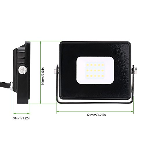 LE-Foco-LED-10W-800lm-Impermeable-Blanco-fro-Exteriores-Proyector-LED-para-Almacenes-Jardines-Patios-etc