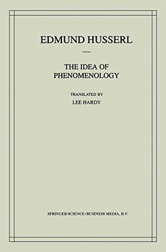 The Idea of Phenomenology: A Translation Of Die Idee Der Phänomenologie Husserliana Ii (Husserliana: Edmund Husserl Collected Works)
