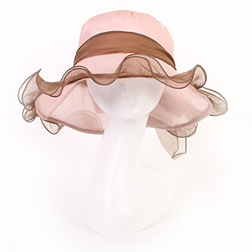 La version coréenne de l'extérieur de l'écran solaire, chapeau de soie stetson chapeaux uv pare-soleil d'été féminins, pliable M 56-58cm (rose) M (56-58cm) rose