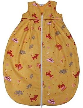 Tavolinchen 35/225-0-130 - Frottierschlafsack Zirkus Größe 130 cm, orange