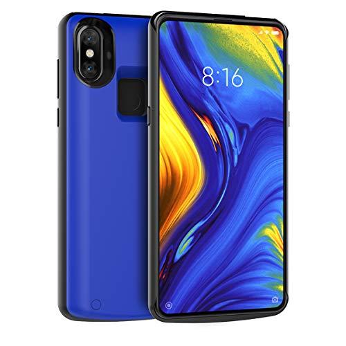 Xiaomi Mi Mix 3 Funda Batería, 5000mAh Batería Recargable Externa Ultra Delgada Protector portátil Carga Caso de Prueba de Choque Banco de energía Backup Funda Protectora Blue