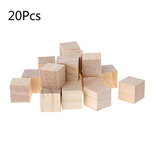 Cubo madera bloques cuadrados sin acabado madera maciza