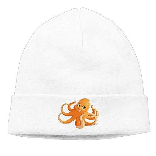 Cute Big Eyes Octopus Printed Plain Skullies Beanie Toboggan Hat Cap Unisex Vintage Hats