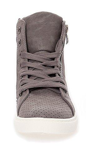 Damensneaker Sneaker Freizeitschuhe Damenschuhe Knöchelsneaker 29162 Grau