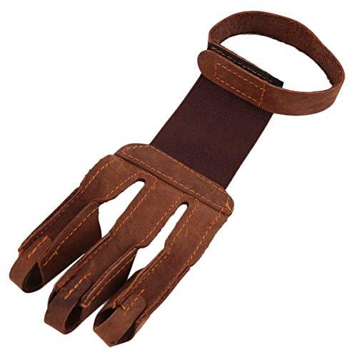 Nosii 1 stück 3-Finger Design bogenschießen schützen handschuh ziehen Bogen Pfeil bogenschießen schießen handschuh Leder einzigen handschuh -