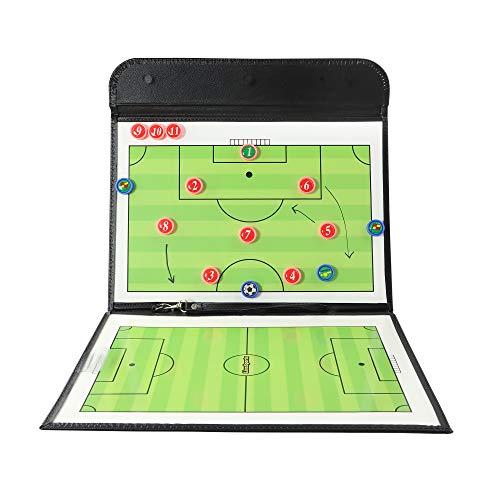 LionSports Premium Taktiktafel - Ideal für Taktiken und Spielanpassungen - Perfekt für alle Trainer - Verbesserte Laufwege der Spieler mit diesem Trainingszubehör - Mit Trillerpfeife und Zonenfeld