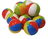"12"" Rainbow Colored Inflatable Beach Balls 25 Pack,"